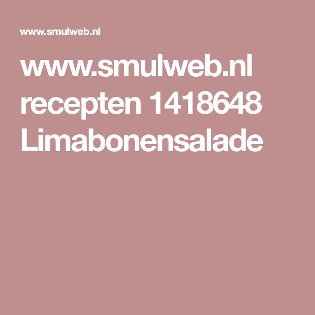 www.smulweb.nl recepten 1418648 Limabonensalade