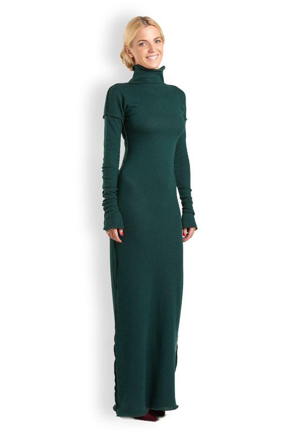 e61e2df9d25de5a Платье-водолазка, длинное (разные цвета) | Женская одежда UONA.RU ...