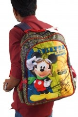 This Mickey Bag contains a big as well as a mini compartment with side nets on both sides to carry your water bottle as well. It has rubber zip puller with the Mickey logo and is an amazing high-quality bag, perfect for school going children.