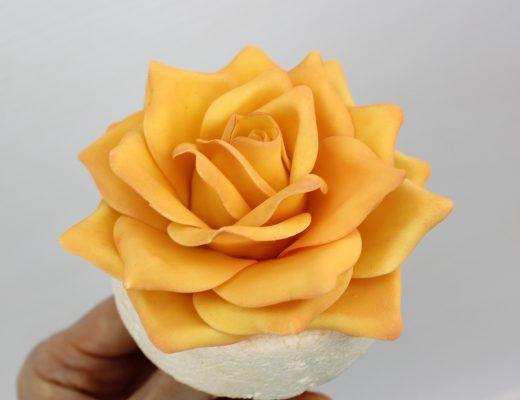 how to make fondant roses easy