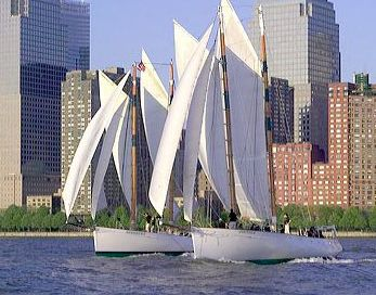 Sunset sailboat cruise on the Schooner Adirondack... talk about the most beautiful way to see the NYC skyline.