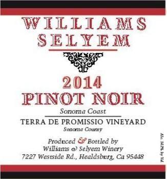 2014 Williams Selyem Pinot Noir Terra de Promissio Vineyard