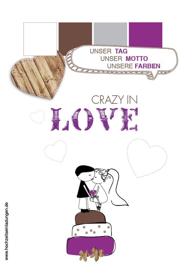 Crazy in Love.... das etwas andere Hochzeitsmotto  http://www.hochzeitseinladungen.de/hochzeit/kartengalerien/fotokarten/action/show/card/DEC085.html?q=crazy