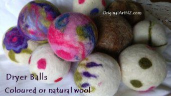 Dryer Balls - eco friendly, these are amazing cutting your drying time in half.