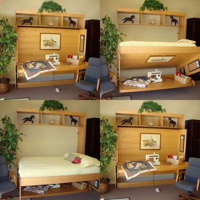 Wallbeds Contemporary Oak Murphy Bed   Wayfair
