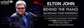 Elton John | 2 x Front Row Seats, Backstage Tour and support UNICEF