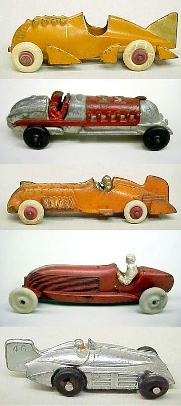 Vintage toy racing cars... Yes they love these things :)