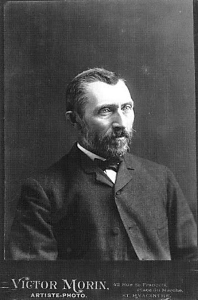 Photo of Vincent van Gogh, c. 1886, Brussels. Discovered in the early 1990s.