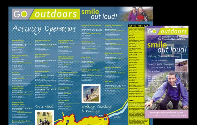 Part of a campaign for Loch Lomond National Park which aimed to promote the diverse range of outdoor activities offered within the park area