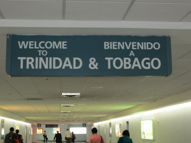 Welcome to Trinidad and Tobago!  This sign puts a smile on my face every time !