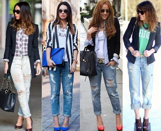 С чем носить джинсы бойфренда