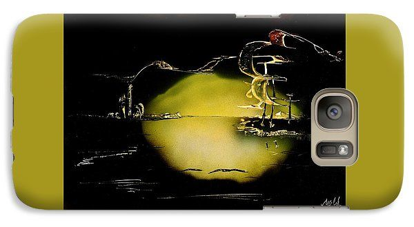 Night Flight Galaxy S7 Case Printed with Fine Art spray painting image Night Flight by Nandor Molnar (When you visit the Shop, change the orientation, background color and image size as you wish)