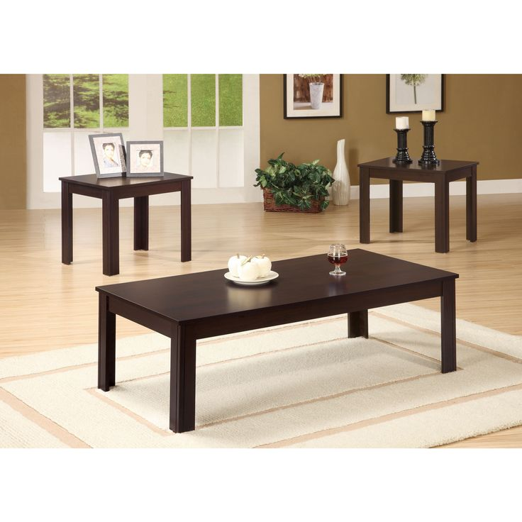 Coaster Company Contemporary End Tables And Coffee Table Set Black