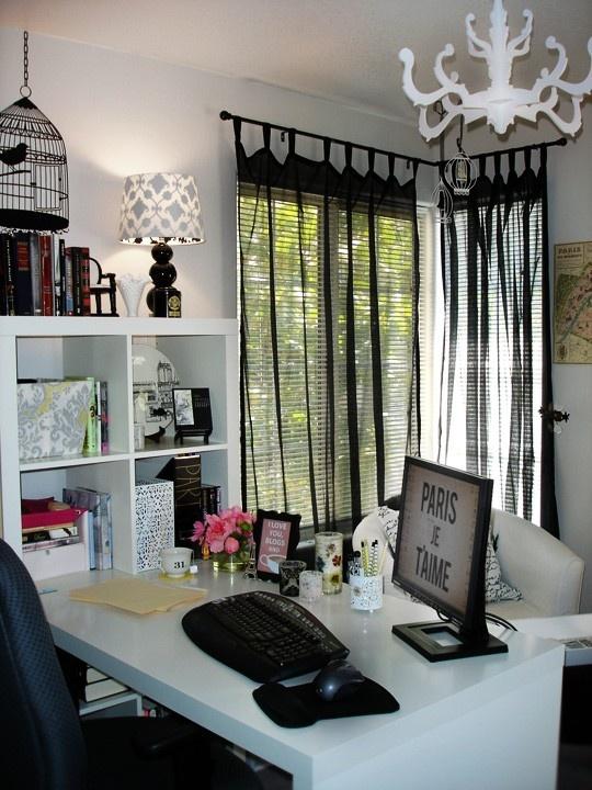 Lovely ... Office Curtain Ideas