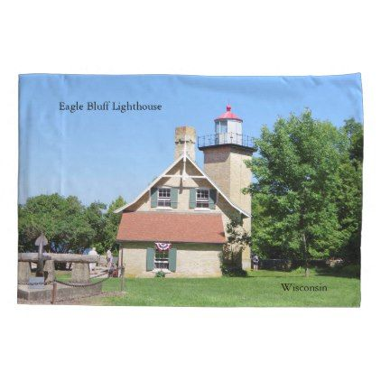 #Eagle Bluff Lighthouse pillow case - #Pillowcases #Pillowcase #Home #Bed #Bedding #Living