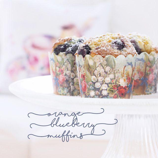 La Table De Nana: Orange Blueberry Muffins~Oreo Brownie Cheesecake~Seed Packets.