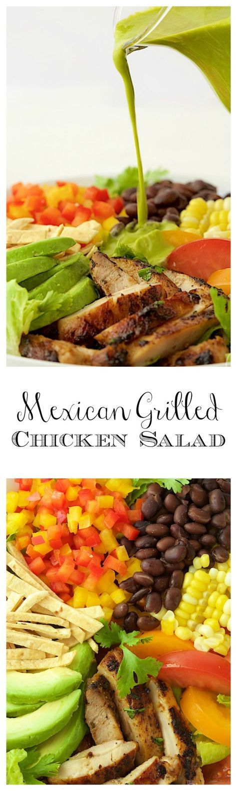 Mexican Grilled Chicken Salad - this fresh salad bursting with south-of -the-border flavor is a great way to keep meals healthy and delicious!