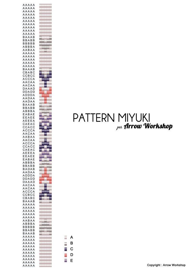 Arrow Workshop vous propose ce patron de tissage de perle miyuki ©Arrow Workshop
