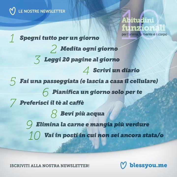 10 abitudini funzionali per l'anima, la mente e il corpo | Blessyou.me
