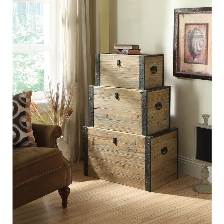 Nesting Trunks (Set of 3) - Overstock™ Shopping - Great Deals on Coffee, Sofa & End Tables