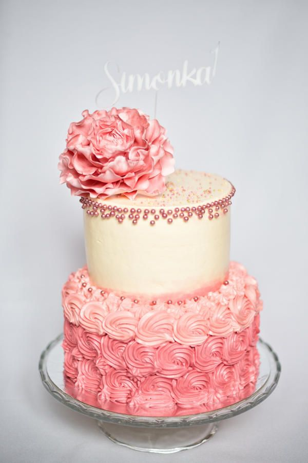 Buttercream Cake for little princess by Cakes by Katulienka