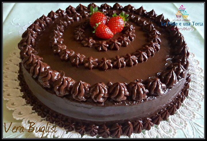 Ricetta Torta Al Cioccolato Farcita.Torta Al Cioccolato Con Crema Al Mascarpone E Nutella Ricetta Torte Ricette Cioccolato