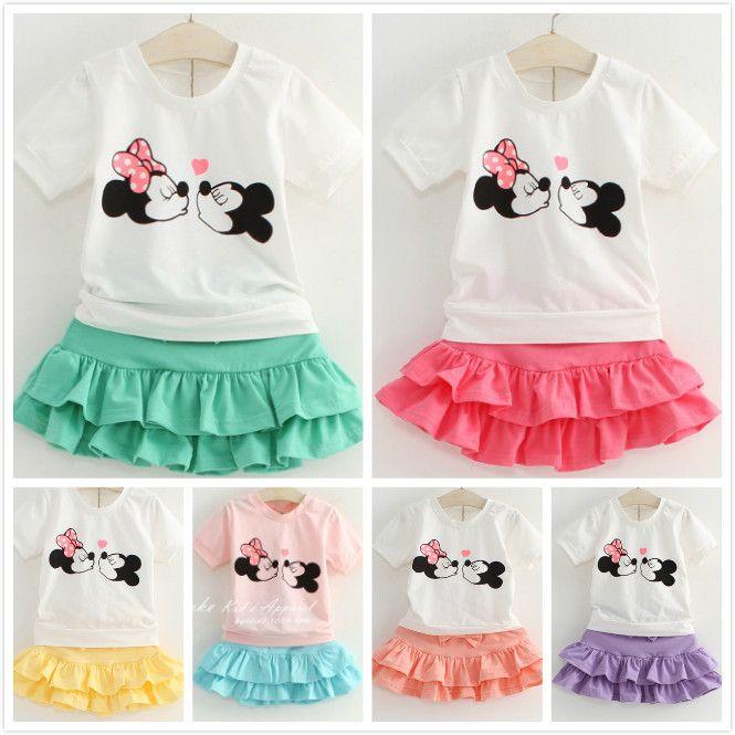 1PCS, New 2014 fashion Girl Dress cartoon Minnie mouse kiss Princess Dresses Children tutu summer girl dress free shipping $8.80