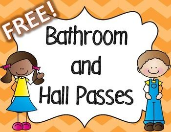 Free Colorful Bathroom And Hall Passes Ses New 2nd Room