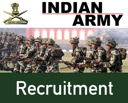 Indian ARMY Recruitment for 2017- 2018