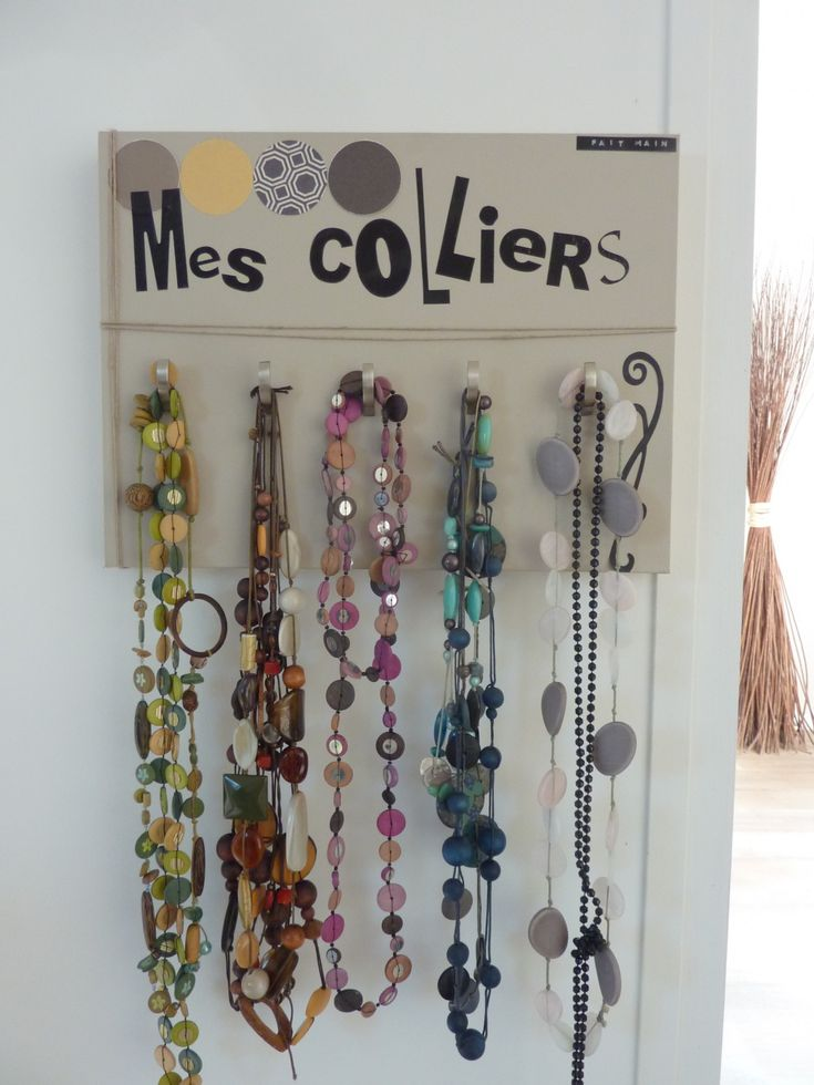1000 id es sur le th me porte collier sur pinterest for Decoration porte bijoux