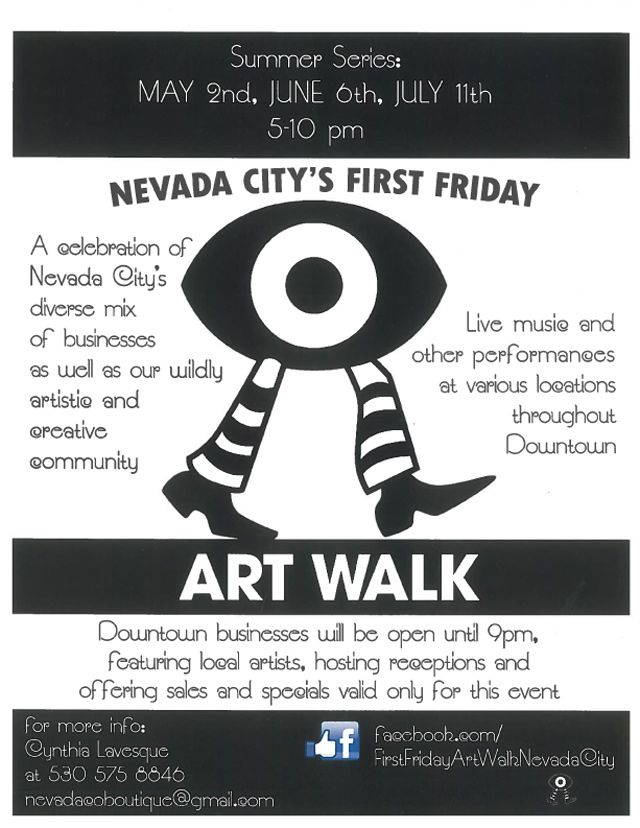 Nevada City First Friday Art Walk returns Friday, September 5, 5-9pm, downtown arts, music and events