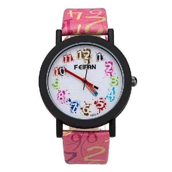 30% OFF! Hot Sale Unisex Version FEIFAN Flower Color Leather Strap Leisure Quartz Watch red #madeinchina #watches >http://dxurl.com/RbdM