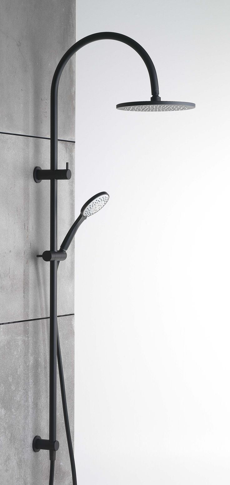 This is our sleek NEW Pegasi Dual Shower 900mm in our Switzrok Matte Black finish! #faucetstrommen