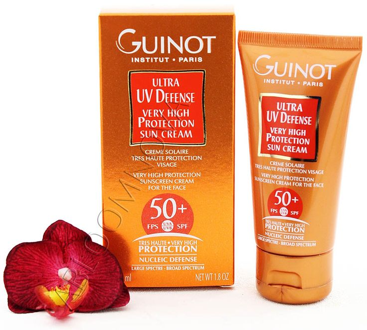 Guinot Ultra UV Defense - Very High Protection Sun Cream SPF50+ 50ml - Protects the skin against UVA and UVB. Neutralizes free radicals responsible for aging and wrinkles. Moisturizes and soothes your skin! #Guinot  #suncare #SPF50 #sunprotection #suncream #antiwrinkle