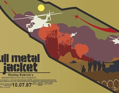 "Check out new work on my @Behance portfolio: ""Poster full metal jacket"" http://be.net/gallery/51390439/Poster-full-metal-jacket"