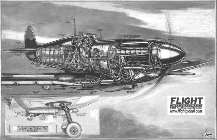 Supermarine Spitfire cutaway