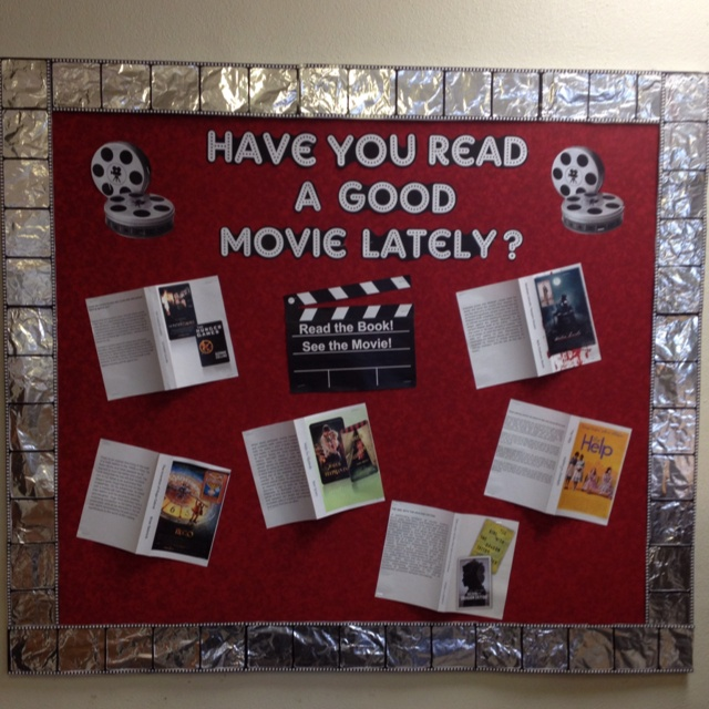 Have you read a good movie lately display / books into movies