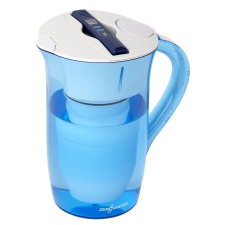 ZeroWater 10-Cup Ready-Pour Pitcher with Free TDS Meter (Total Dissolved Solids) ZR-0810-4