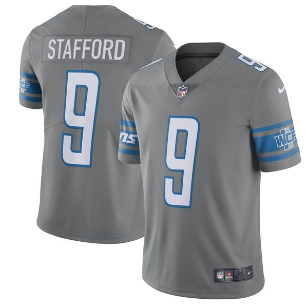 mens detroit lions matthew stafford nike steel 2017 color rush limited jersey nfl jersey 45