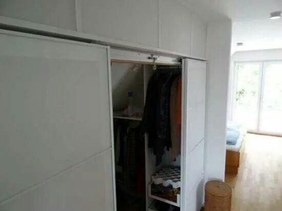 Using PAX doors to create a walk in wardrobe