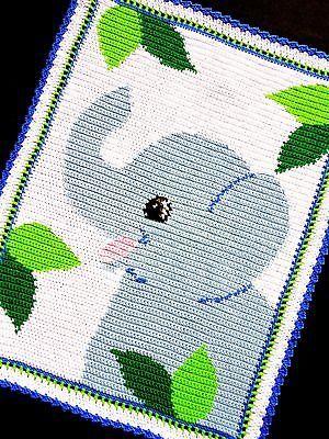 Crochet Patterns - SAFARI ELEPHANT Afghan Pattern EASY!