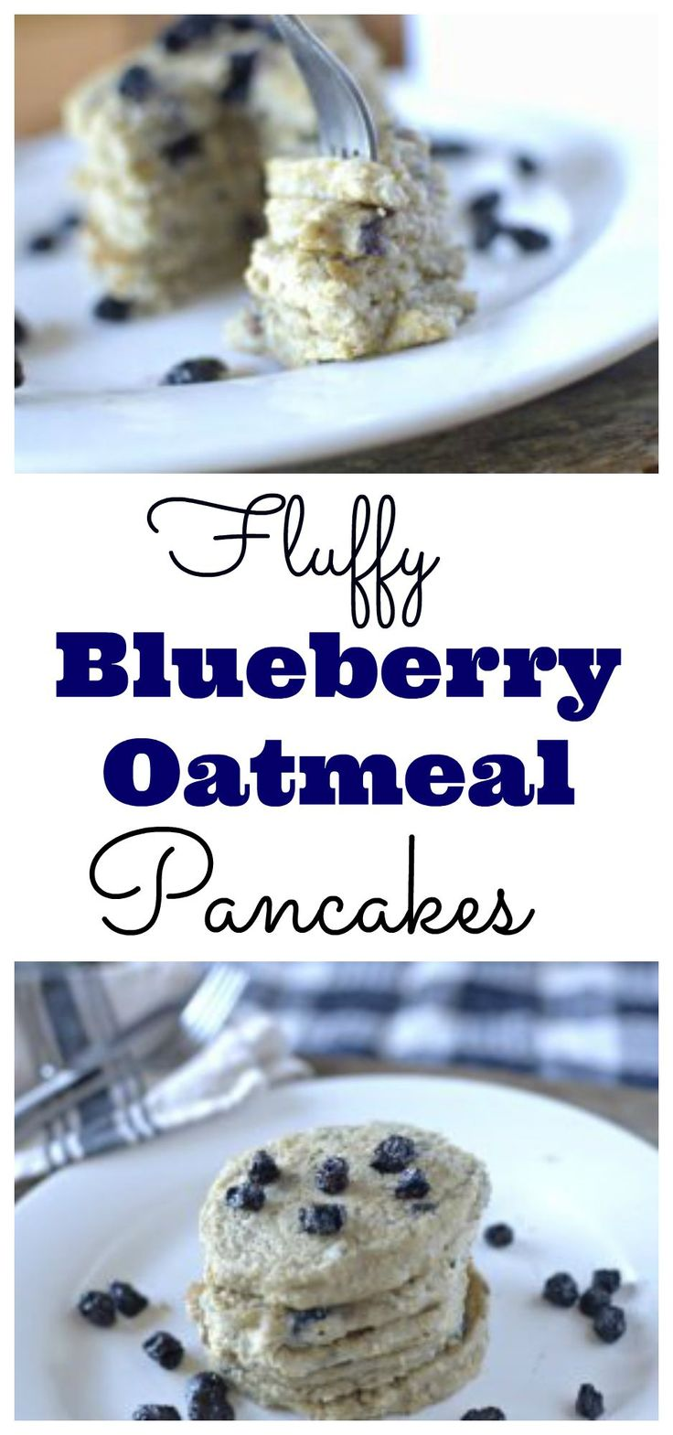 These Fluffy Blueberry Oatmeal Pancakes maybe the best pancakes ever! Made with a secret ingredient to make them extra FLUFFAY! #glutenfree #healthy #vegan