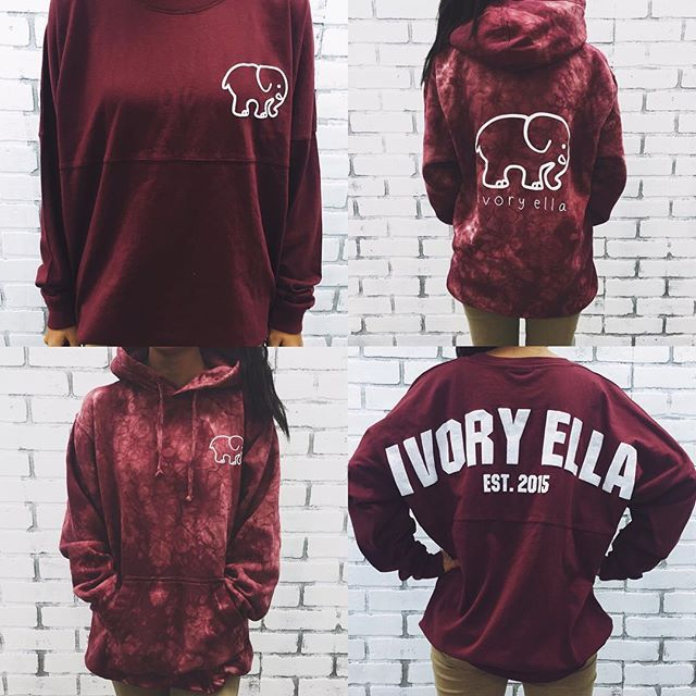 Maroon spirit jerseys and acid wash hoodies coming this fall!  Who's excited?! ✌️