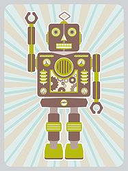 Robot Stanley Art Print. For kids both large and small who love robots! $40 from