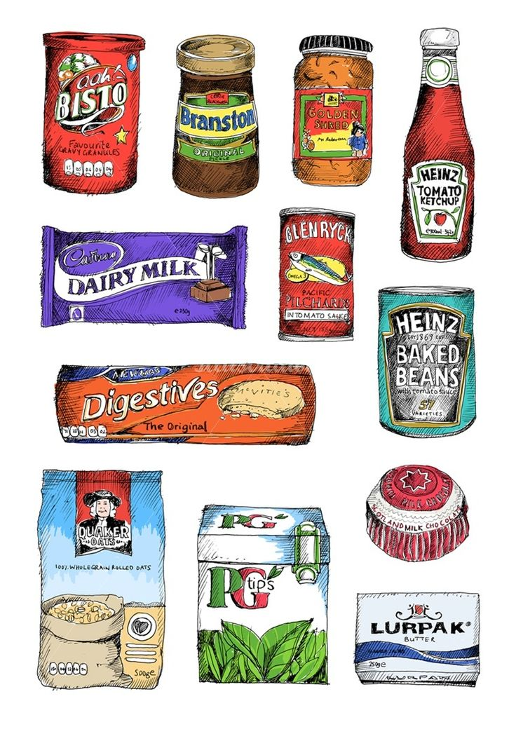 Pantry food illustration by May van Millingen