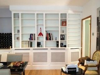 Bespoke Bookcase - made to measure - radiator cover www.cliveandersonfurniture.co.uk