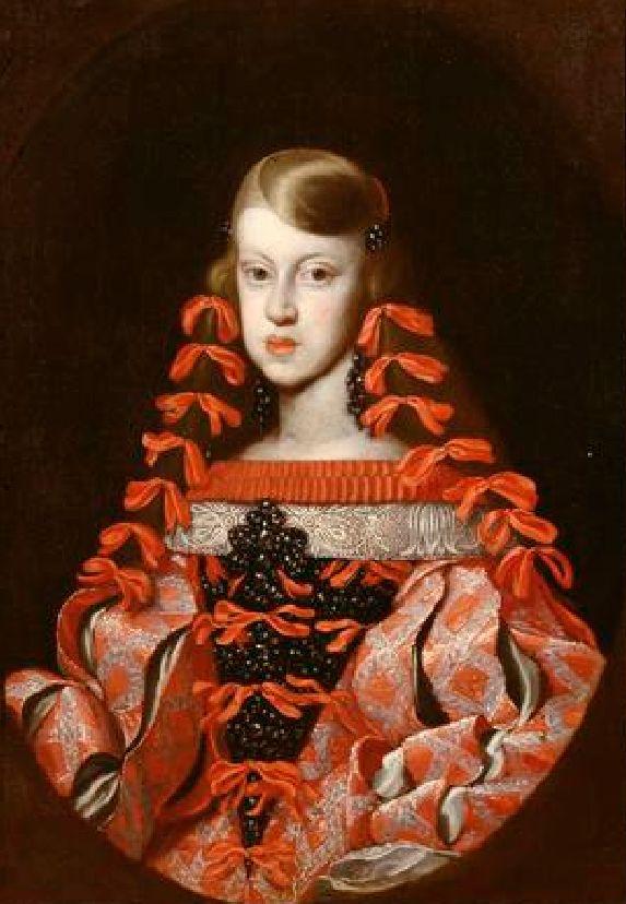 ca. 1662-1664 Infanta Margarita Teresa de Espana, emperatriz de Austria by anonymous (Kunsthistorisches Museum Wien) | Grand Ladies | gogm