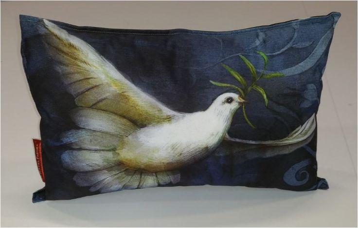 Illustratie van Jenny Bakker op textiel als prachtig sierkussen #Cushion.