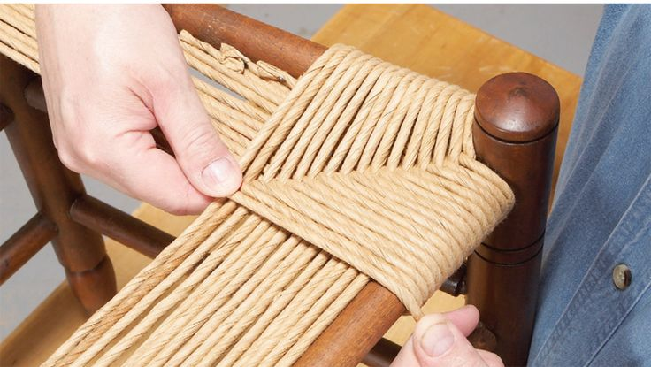 Traditional Woven Chair Seats - Popular Woodworking Magazine - maybe could make or refinish thrifted chairs to replace the old ones?
