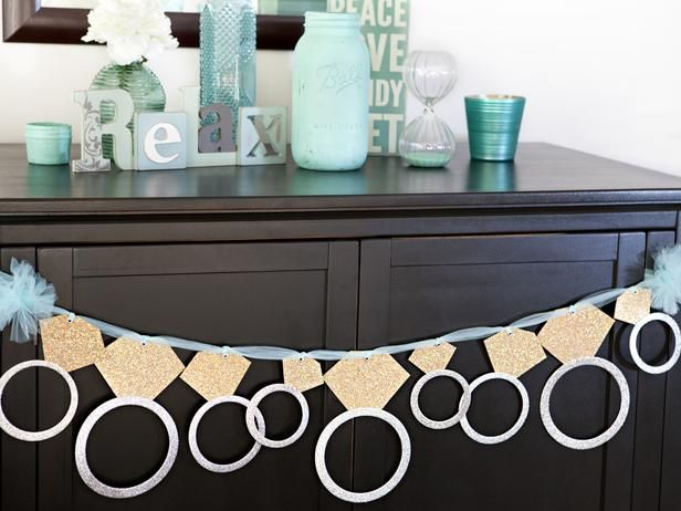 Bachelorette Party Ideas: Download the diamond ring shape here >> http://www.diynetwork.com/decorating/bachelor-and-bachelorette-party-ideas-and-favors/pictures/page-4.html?soc=pinterest